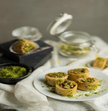 Pistachio Turkish Roll online-almondhouse.com